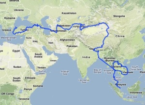 map-showing-route-of-odyssey-overland-istanbul-singapore-journey
