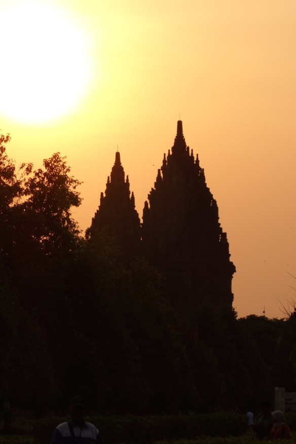 Sunset-at-Prambanan